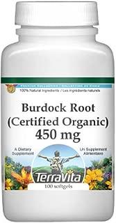 Burdock Root (Certified Organic) - 450 mg (100 Capsules, ZIN: 517584)
