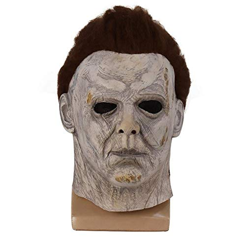 jinclonder Mondschein Herz Panik Maske Horror McMel Neue Halloween Halloween Prom Cos Kopfbedeckung Ideal für lustige Meme, Halloween, Weihnachten, Ostern, Karneval Naturlatex
