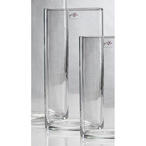 Sandra Rich Glasvase, Dekoglas CYLI, 30cm, Ø 15cm, Glas, zylindrisch rund
