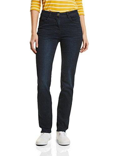 CECIL Damen Jeans 371172 Toronto Straight, Blau (Dark Blue Wash 10315), W26/L32