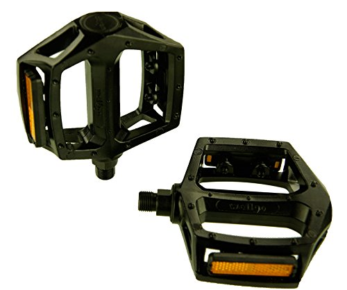 Wellgo LU-313rodamiento de Bolas Aluminio montaña BMX Pedal con Reflector Negro