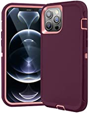 FulSoulComM Compatible with iPhone 12 Pro Max Case Heavy Duty, Full-Body Drop Protection Rugged Case Shockproof/Drop/Dust Proof 3-Layers Military Grade Protective Case for iPhone 12 Pro Max 5G 6.7''