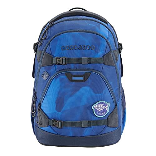 """coocazoo Schulrucksack ScaleRale """"OceanEmotion – Blue Bay"""", blau, ergonomischer Tornister, höhenverstellbar mit Brustgurt und Hüftgurt für Mädchen ab der 5. Klasse, 30 Liter"""