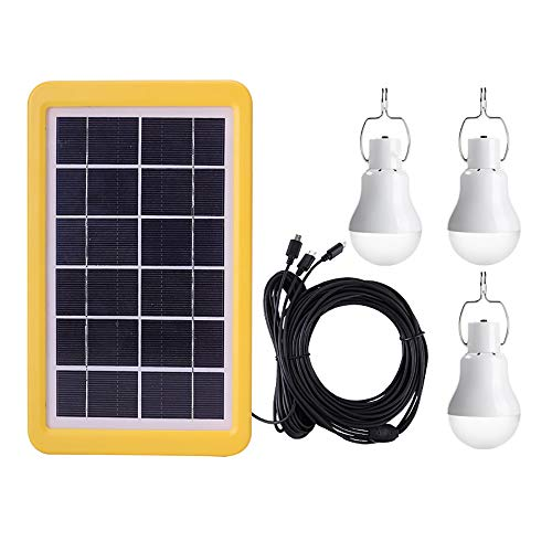 QYHSS Luz 12 LED Exterior, Bombilla Exterior Solar con USB, 110LM, con foco Proyector 6000-6500K, LED Luces Lámpara Sensor, (3GS-1200) [Clase de eficiencia energética A]