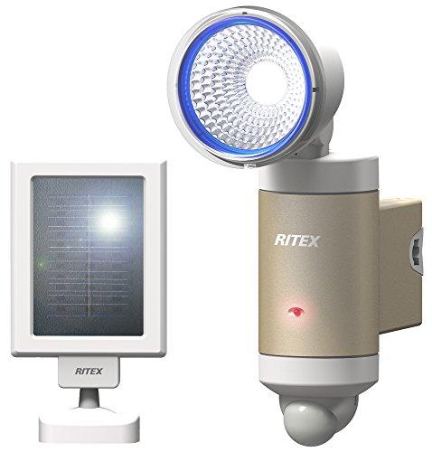 ムサシ RITEX LEDセンサーライト(3W×1灯) 「ソーラー式」 電球色レンズ付き 防雨型 S-30L