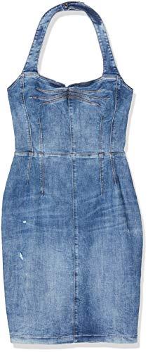Guess Christie Dress Vestito Casual, Azzurro, XS Donna