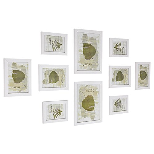 SONGMICS Picture Frames Set of 10 Photo Frames - Two 8' x 10' (20 x 25 cm), Four 5' x 7' (13 x 18 cm), Four 4' x 6' (10 x 15 cm), White RPF310W