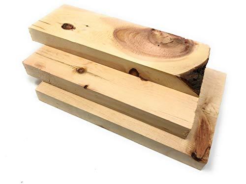 jaka-online 1kg Massivholz Kantel gehobelt. Edelholz, Griffholz, Drechselholz, Holzschmuck, DIY (Zirbe)