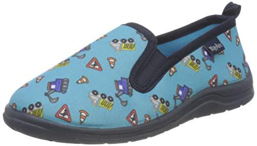 Playshoes Zapatillas Obras, Pantuflas Unisex niños, Azul (Blau 7), 24/25 EU