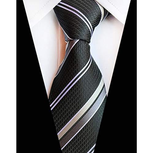 DYDONGWL Nekbanden, 8cm Klassieke Zijde Mannen Tie Plaid Gestreepte Zon Bloem Neck Ties voor Mannen Formele Draag Zakelijke Pak Man Bruiloft Feesten s
