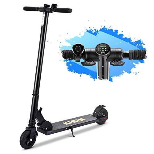 urbetter Trottinette Electrique Scooter électrique, 15km la portée Moteur de 150W 5.5'' Scooter électrique Pliable Maximale de 25 kmh, Léger et Réglable pour Ados et Adulte, Kugoo ES01 Mini (A Noir)