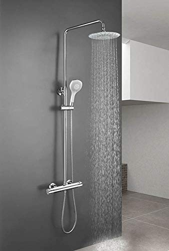 Spolde douche uittrekbaar met thermostaatkraan, maneral douchekop douche hydromassage en bluetooth.
