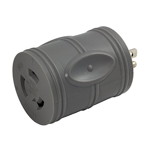 AC WORKS [EV515L620] EVSE Upgrade Electric Vehicle Charging Adapter 15Amp Household Plug to L6-20R Female Connector