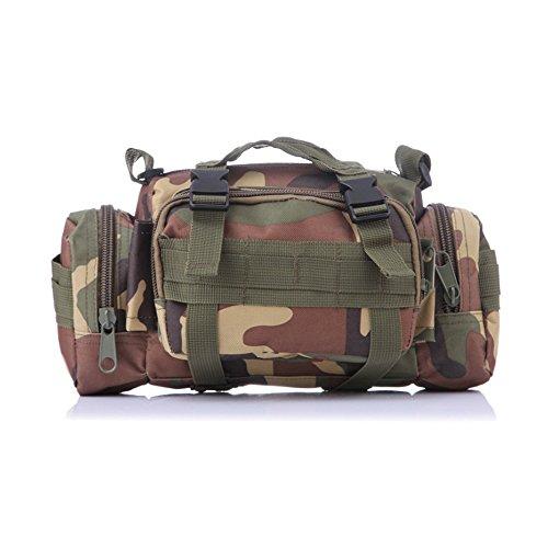 Ever Fairy tattico Militare Deployment Bag Utility Tactical Marsupio per Campeggio Viaggio Sport Trekking, Woodland Camo (Woodland Camo)