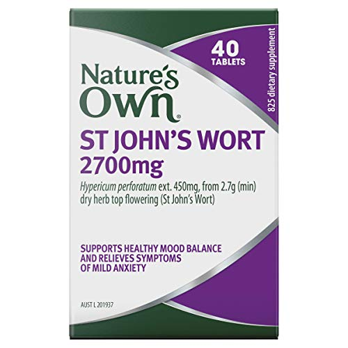 Nature's Own St John's Wort 2700mg - Helps Calm the Nerves - Supports Emotional Balance - Reduces Mental Fatigue, 40 Tablets