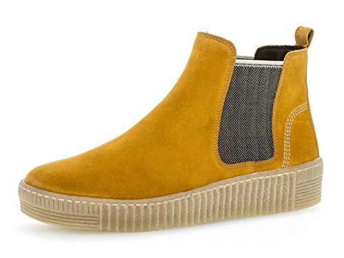 Gabor Damen Chelsea Boots 33.731, Frauen Stiefelette,Stiefel,Halbstiefel,Bootie,Schlupfstiefel,flach,Herbst/beige(Natur,44 EU / 9.5 UK