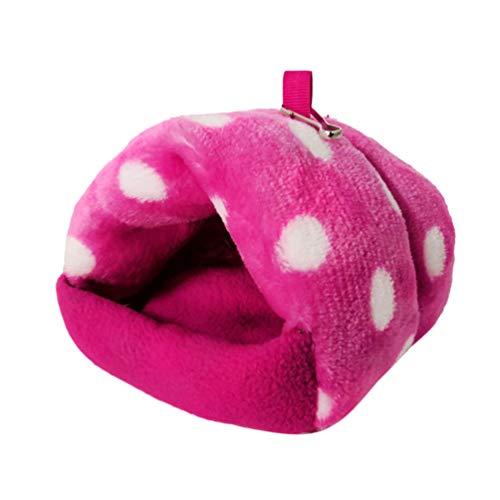 Balacoo Ratten Hamster Bett Winter Warmes Bett Niedliches Käfig-Nest für kleine Haustiere, Eichhörnchen, Igel, Chinchilla, Kaninchen, Meerschweinchen, Rosa m rose