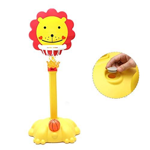 XIUYU Fitness Basketballkorb zu Hause Höhe justierbare Basketballkorb Innenmultifunktions Unabhängiger Schuss-Rack sicher und stabil Basketball-Rack (Color : Yellow, Size : 53 * 43 * 114164cm)