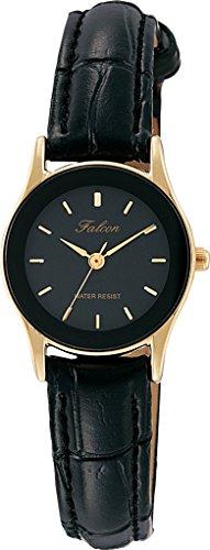 [シチズン Q&Q] 腕時計 アナログ 防水 革ベルト QA37-102 レディース ブラック