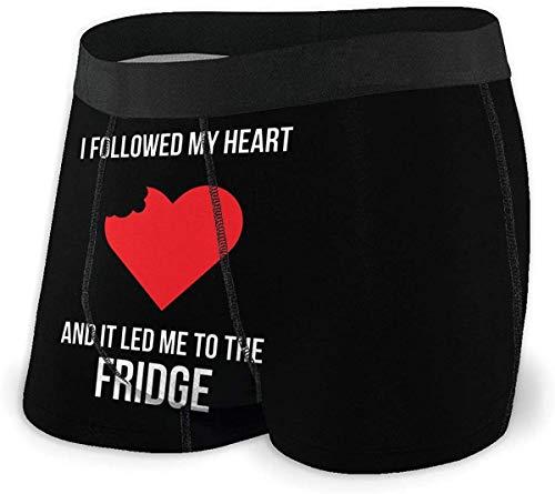 Herren Unterwäsche Boxershorts I Followed My Heart and It Led Me to The Fridge Men's Short Leg Sport Boxer Brief Comfort Flex Waistband Underwear