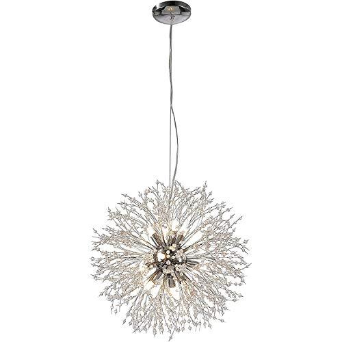 Etase Candelabros Fuegos Artificiales LED Vintage Metal Cristal Colgante IluminacióN Luz de Techo para Comedores Sala de Estar Dormitorio