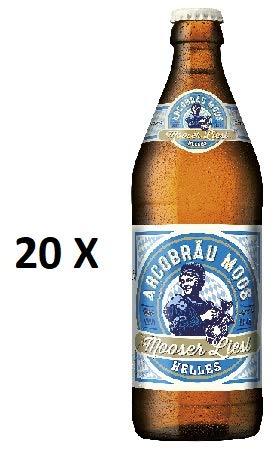 20 Flaschen a 0,5L Arcobräu Moos Mooser Liesl Helles a 5,3% vol. inc. 1.60€ MEHRWEG Pfand
