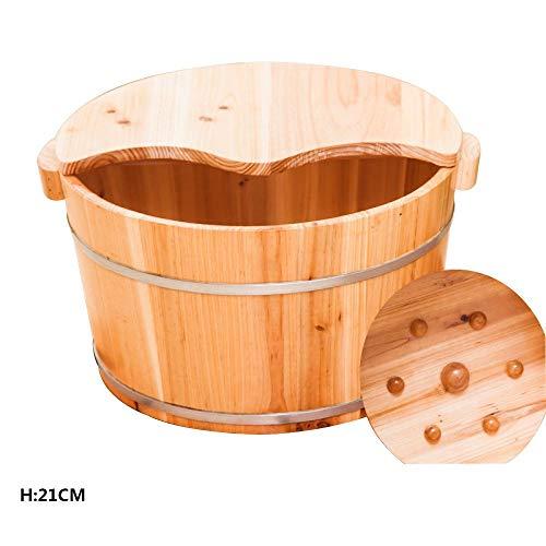 FAP Pedicure Basin Houten Dip Voet Tub Volwassen Manicure Huishoudelijke Vat Was Voet Bad Vat Voet Massagers,B, Hout kleur 2, b