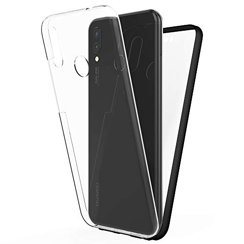 NALIA Funda Integral Compatible con Huawei P Smart Plus 2018, Carcasa Completa con Cristal Templado, Ultra-Fina Cubierta Protectora Cover Delgado Dura Case para Movil Telefono P-Smart+, Color:Negro