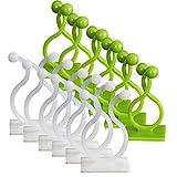 XunHe 100 clip per piante autoadesive, clip di supporto per piante rampicanti, clip resistenti per fissaggio a parete, gancio adesivo da parete per decorazione domestica, fissaggio a filo (centrale)