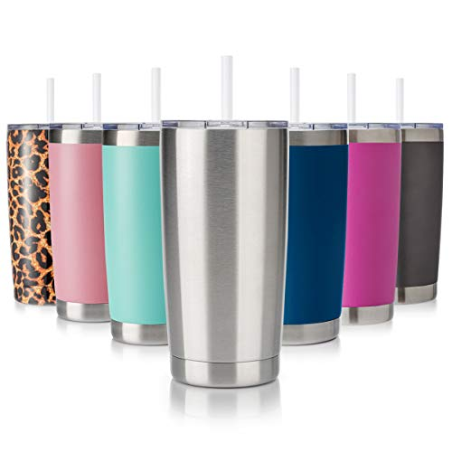 Civago 20oz Tumbler with Lid and Straw, Stainless Steel Vacuum Insulated Coffee Tumbler Cup, Double...