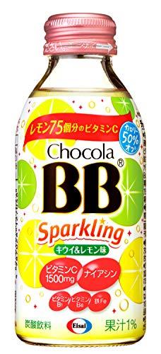 エーザイ チョコラBBスパークリング キウイ&レモン 140ml×24本