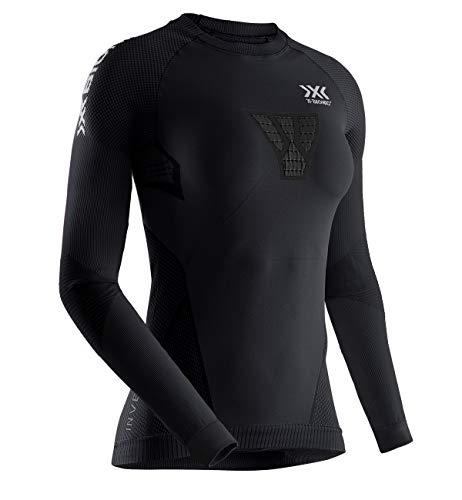X-Bionic Invent 4.0 Running Shirt Long Sleeves, Maglia da Corsa Maniche Lunghe Donna Training Fitness, Black/Charcoal, S