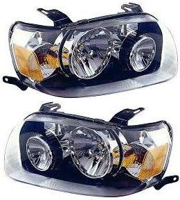 Evan-Fischer Headlight Set Compatible with 2005-2007 Ford Escape Left Driver and Right Passenger Side Halogen With bulb(s)