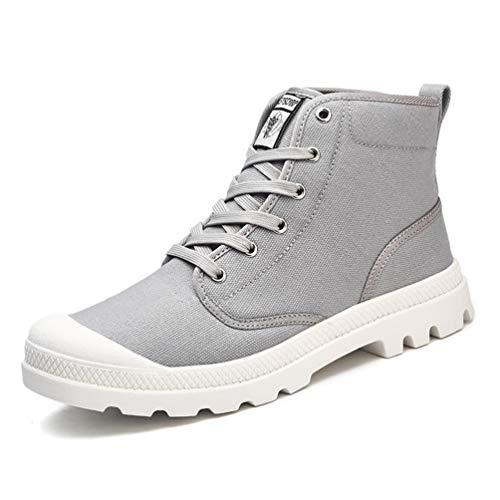 Qianliuk Männer Leinwand StiefelMode High-Top-Bequeme Sneakers Outdoor Laufen Wander Trainer
