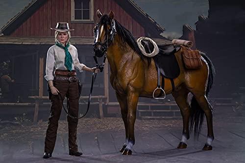 [Tbmodel] SWTOYS 1/6 フィギュア用 女性 Lady Adler 素体 ヘッド セット アクションフィギュア FS042 (フィギュア+馬)