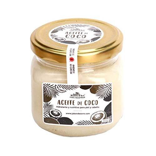 Jabón Zorro D'Avi Aceite de Coco Puro Natural y Ecológico Aceite Corporal y Capilar Hidratante y Nutritivo - 207 ml