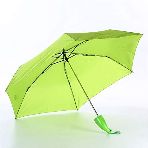 Paraguas Paraguas Umbrella Rain and Parasol Umbrella Lindo for Mujeres niños como Regalos de bebé de la Novedad protección a Prueba de Viento Plegable Paraguas (Color : Green)