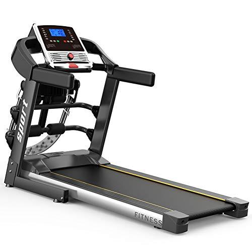 Eléctrica máquina corriente, cinta de correr profesional con altavoz Bluetooth y LCD 3.0HP fitness ejercicio en cinta de la máquina y 12 programas, jogging máquina para el hogar / uso de la oficina