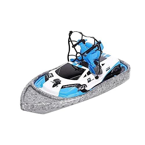 MYRCLMY Telecomando Barca di plastica 3-in-1 Yacht Racing Drone Rotazione di 360 Gradi One-Button-Alta velocità della Luce Ragazzo e della Ragazza Mare Regalo di Ritorno
