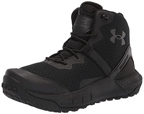 Under Armour Micro G Valsetz Zip Mid, Zapatos de Escalada Hombre, Black/Black/Jet Gray (001), 44 1/3 EU