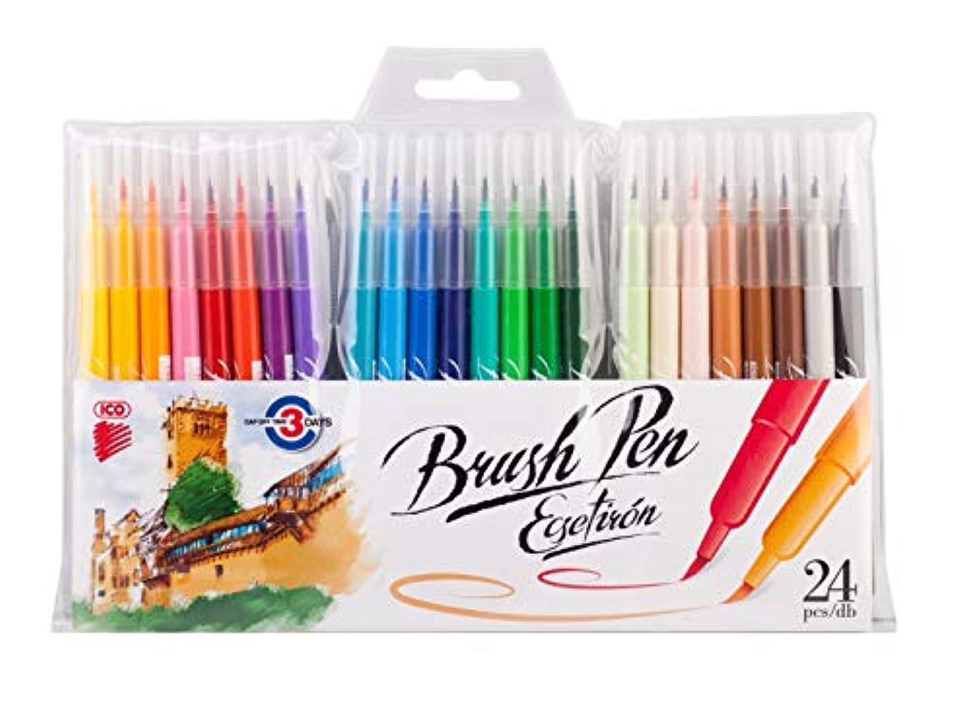 ICO brush pen assort. PB/24