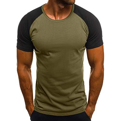HULKY Vendita di Liquidazione Aggiornamento Uomini Tee Shirt Slim Hipster Hip Hop Camouflage Stampa Girocollo Manica Corta T-Shirt Top per Gli Uomini(Verde dell'Esercito,Medium)
