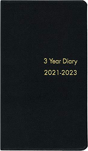博文館 手帳 2021年 3年連用手帳 黒 No.60 (2021年 1月始まり)