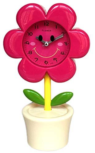 QMMCK eenvoudige mode elektronische bloem wekker persoonlijkheid stomer mooi cartoonfiguur studentenkamer wekker 006