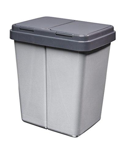 Alpfa Müllbehälter 2 x 30 L Duo Bin #3 - Made in Europe inkl. 2 Ersatzfedern