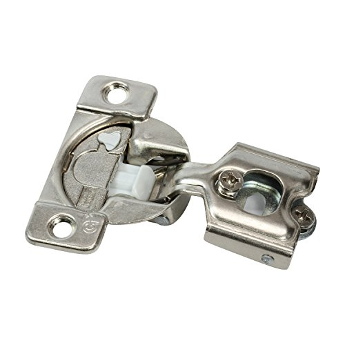 25 Pack Rok Hardware Grass TEC 864 108 Degree 1/2' Overlay Custom 3 Level Soft Close Screw On Compact Cabinet Hinge 04431A-15 3-Way Adjustment 45mm Screw Hole Pattern