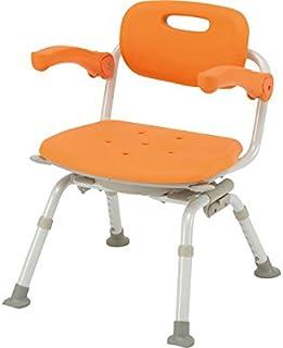 シャワーチェア[ユクリア]ミドルSP回転おりたたみN PN-L41221D オレンジ