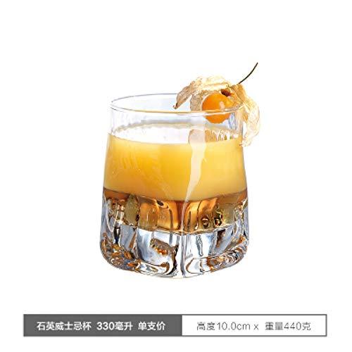 ZKGHJOKZ Whiskyglas Verdikt Loodvrij Glas Whiskybekers Klassieke gedistilleerde dranken BierWijnglazen