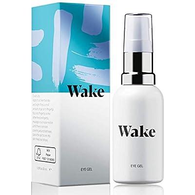 Wake Skincare Eye Gel - Hydrating Eye Serum for Puffy Eyes, Dark Circles, Eye Bags, Crows Feet and Wrinkles – Vitamin E – Collagen - 30ml Anti Ageing Eye Cream from Wake Skincare