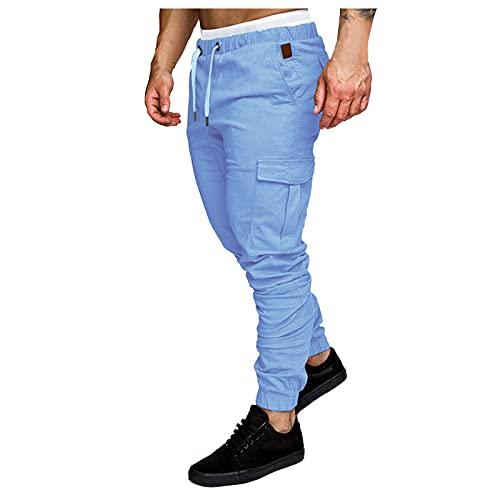 Binggong Pantalones cargo largos de corte regular para hombre, para tiempo libre, senderismo, trekking, actividades al aire libre, pantalones chinos, cargo y jogging.